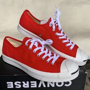 CONVERSE JACK PURCELL OX ENAMEL RED/WHITE/BLACK MN